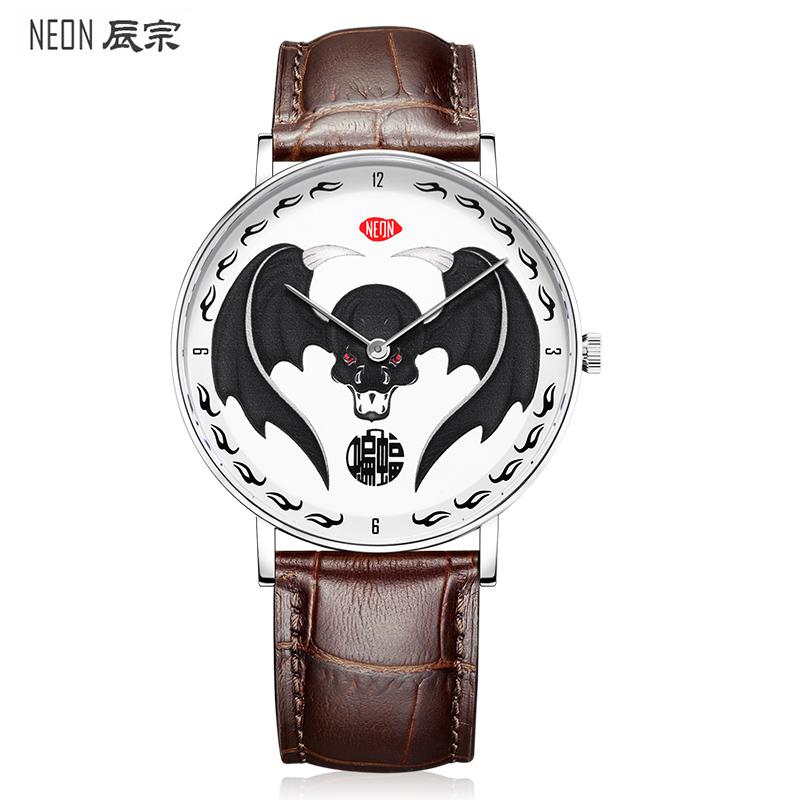 NEON辰宗手表男潮男手表男士手表时尚男表石英表炫酷蝙蝠腕表
