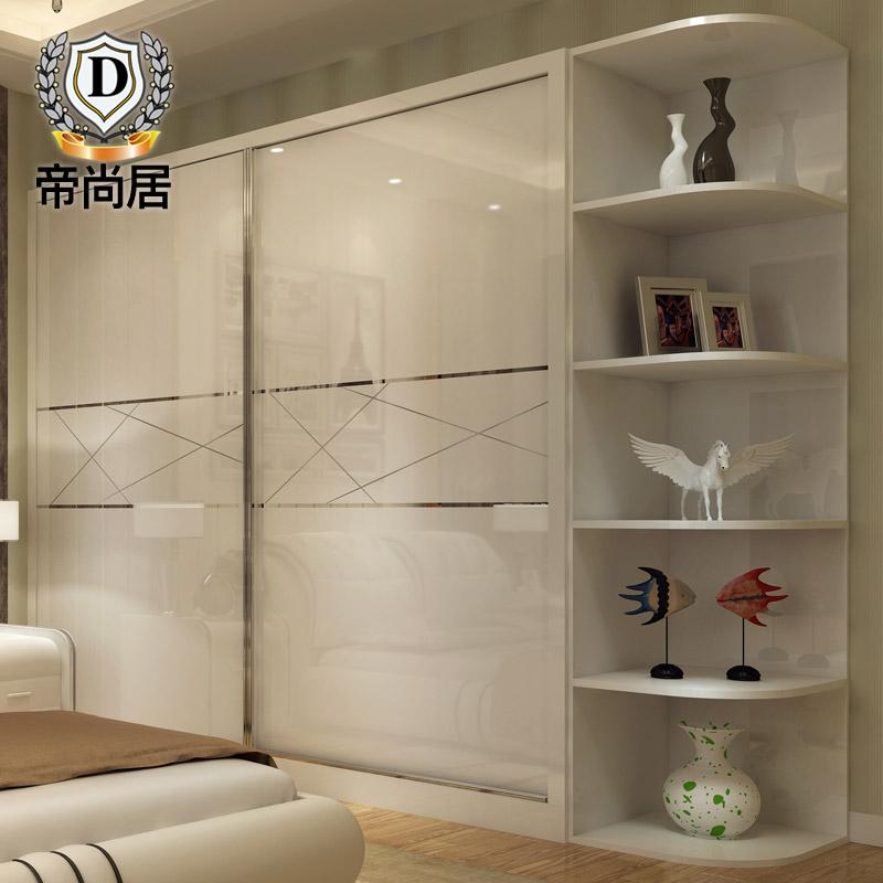 衣柜推拉门现代简约卧室大柜子移门滑门整体经济型多功能转角柜