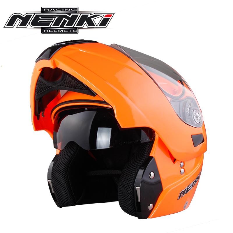NENKI摩托车头盔男电动车头盔女双镜片个性全覆式揭面盔