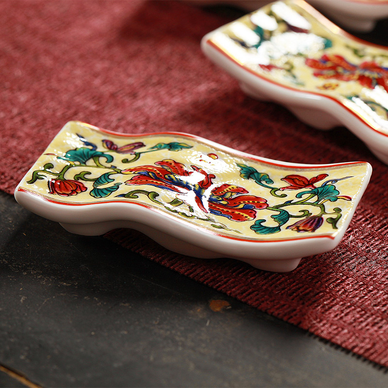 Jingdezhen 59 head of Chinese style household ipads porcelain enamel colored enamel porcelain tableware ceramics