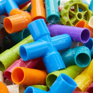 水管道积木拼装4女男孩子5益智力9宝1-2幼儿园3-6周岁7婴儿童玩具