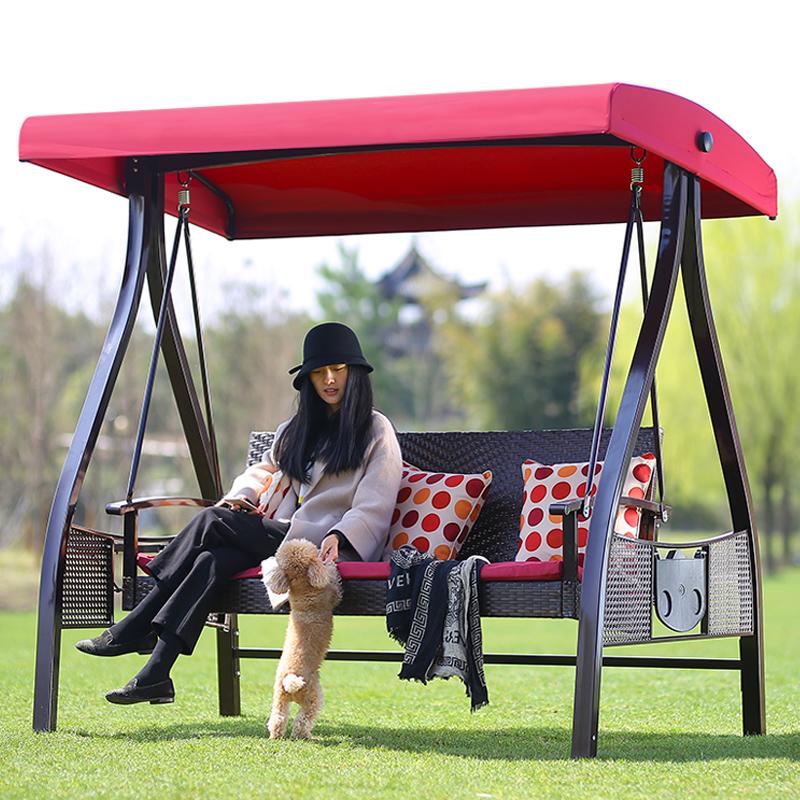 成人家用户外秋千椅庭院摇椅阳台吊椅吊篮藤椅双人室内摇篮椅掉椅