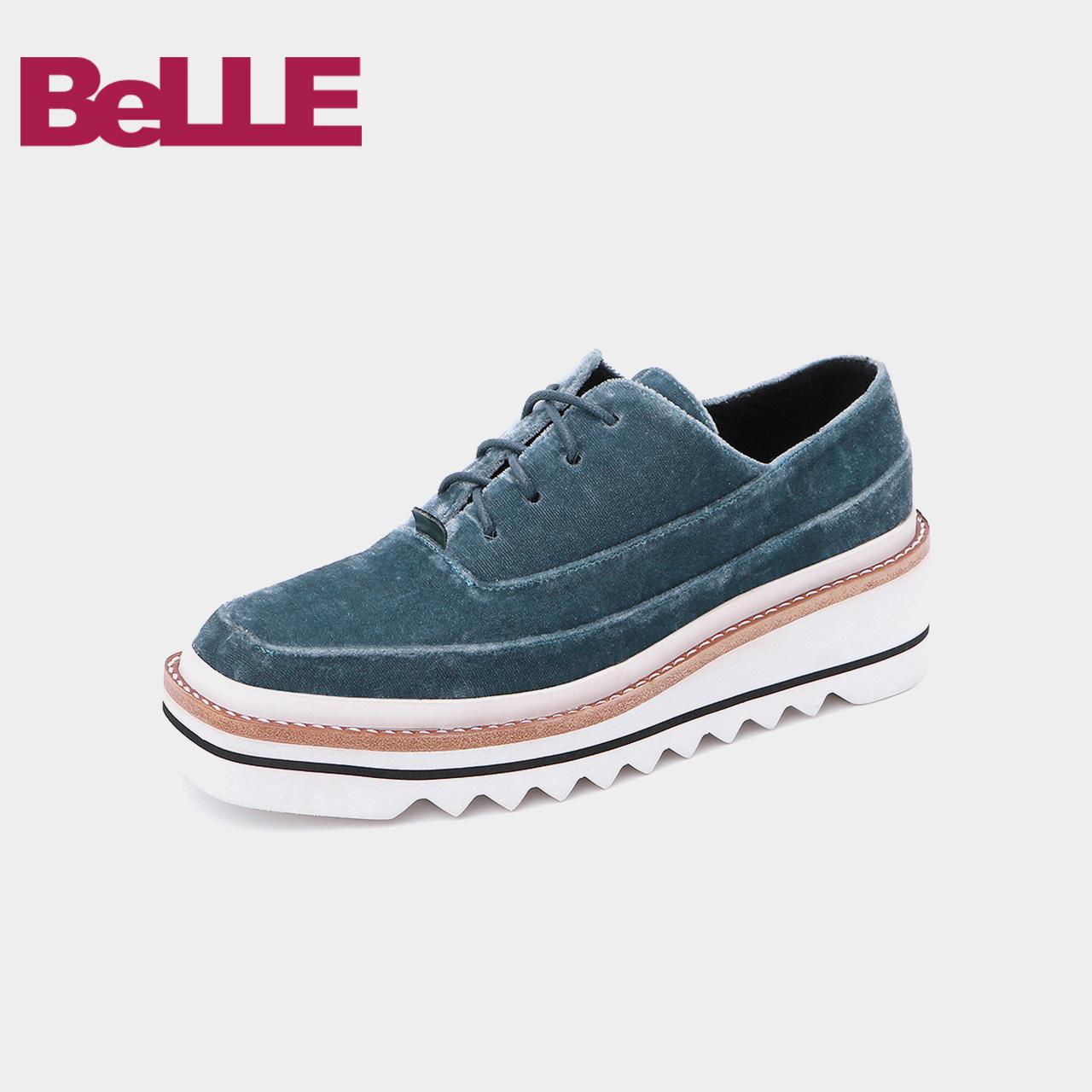 Belle-百丽松糕鞋2018秋新品商场新款厚底女休闲鞋T1Z2DCM8
