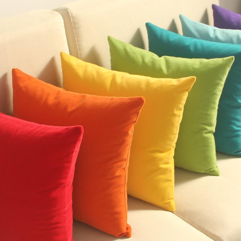 床头靠背纯色大抱枕套沙发靠垫套腰枕含芯靠枕图片