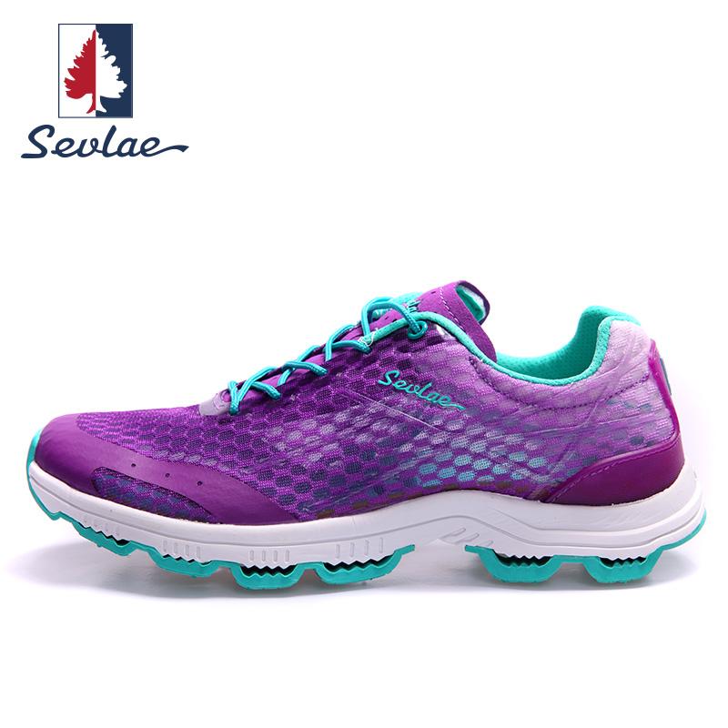 圣弗莱SEVLAE女跑鞋夏季 户外轻便运动鞋透气跑步鞋网面徒步鞋女