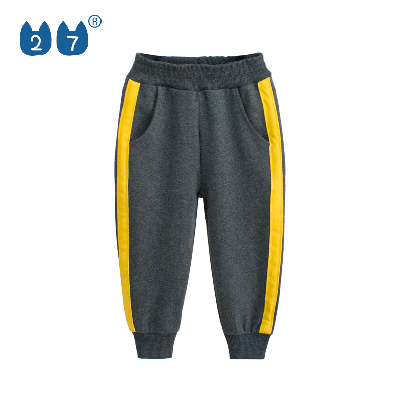 Foreign children's pants spring and summer 2019 new children's clothing boys and girls sports pants baby casual pants simple trousers