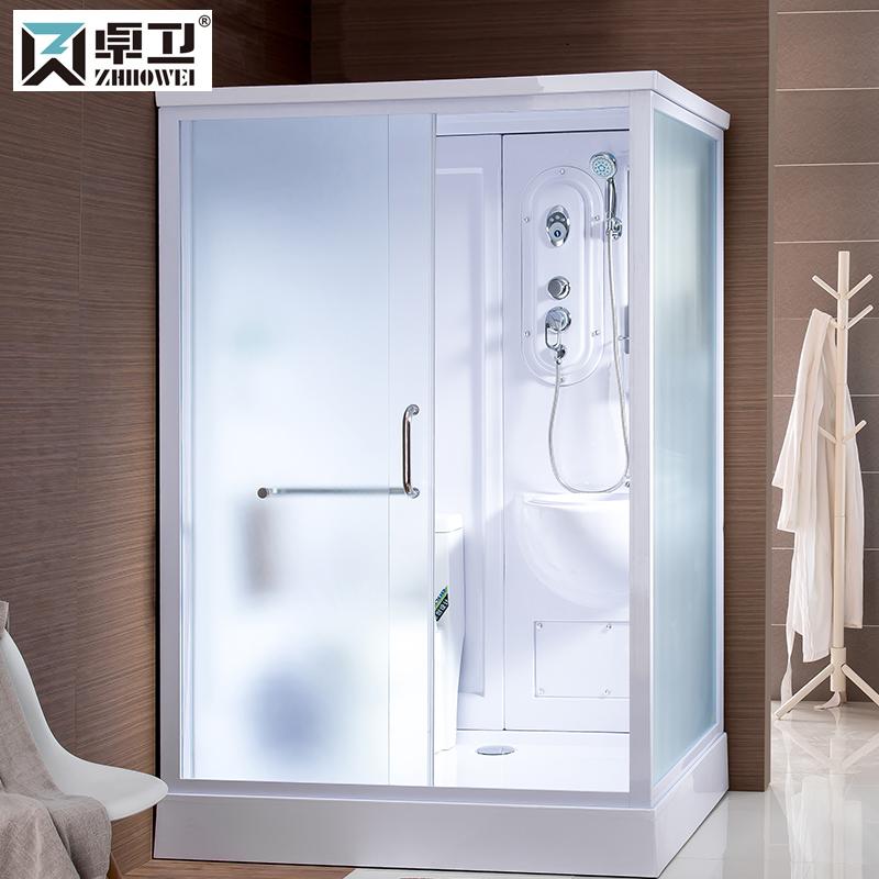 卓卫淋浴房整体一体式卫生间组合移动浴室房带马桶宾馆用集成卫浴