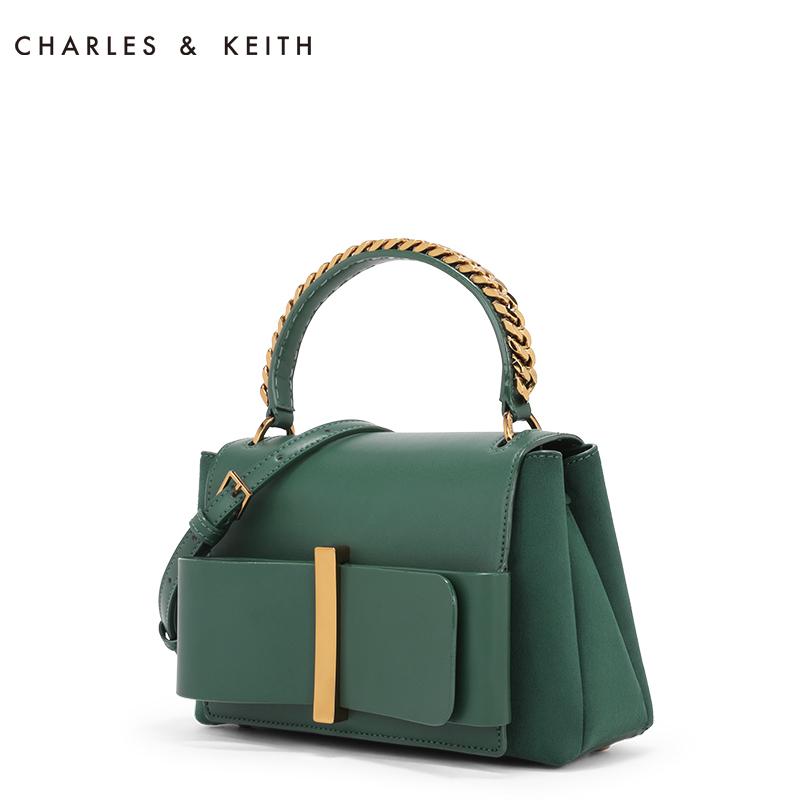 CHARLES&KEITH 手提包 CK2-50670891 抽带蝴蝶结饰链条手提包