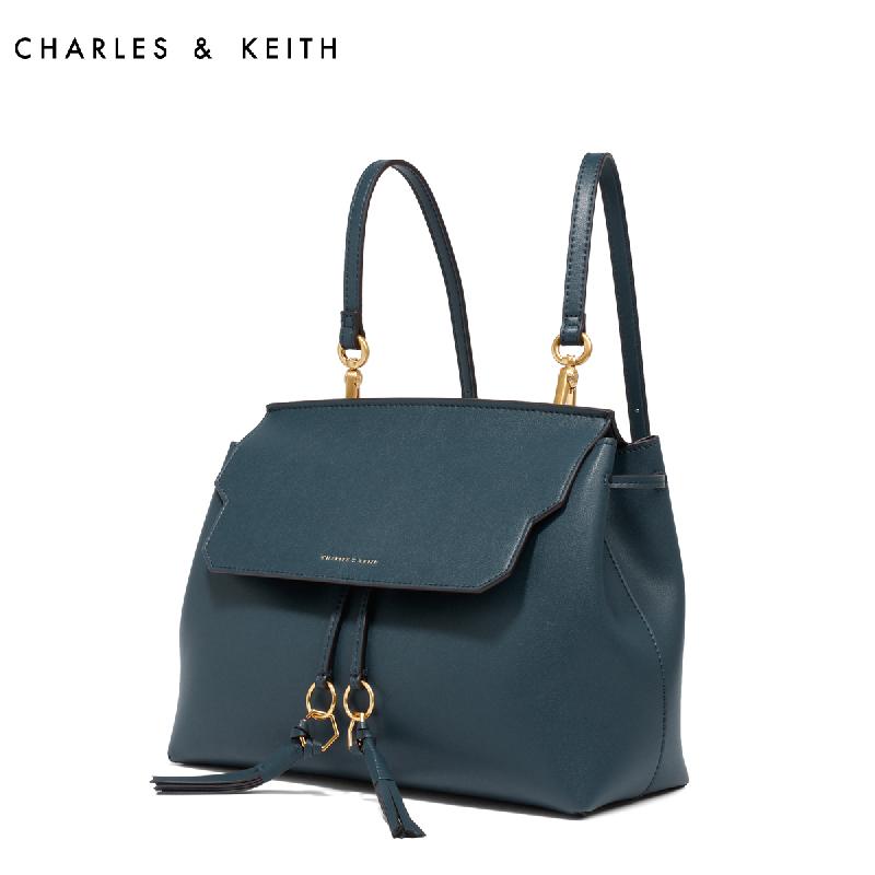 CHARLES&KEITH 双肩包 CK2-20780411 欧美复古圆环流苏书包女包