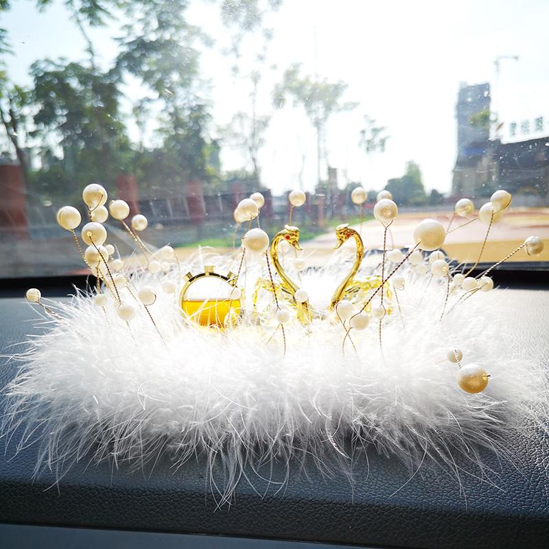 汽车摆件香薰创意个性车内饰品车载香水晶天鹅车上装饰用品女礼物