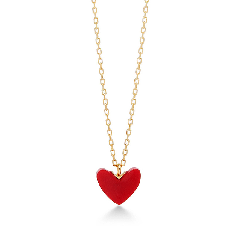 Ahkah kyoko kyoko ins sterling silver necklace female red heart japan ahkah kyoko kyoko ins sterling silver necklace female red heart love clavicle chain heart pendant mozeypictures Choice Image