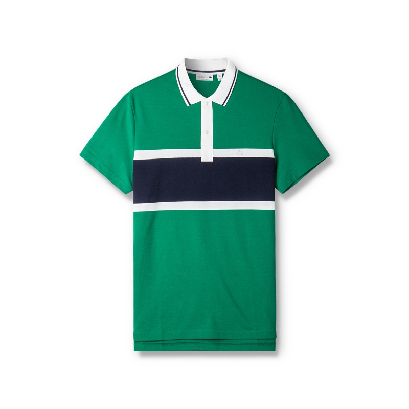 LACOSTE(法国鳄鱼)男士休闲简约棉质短袖POLO衫PH6585J1