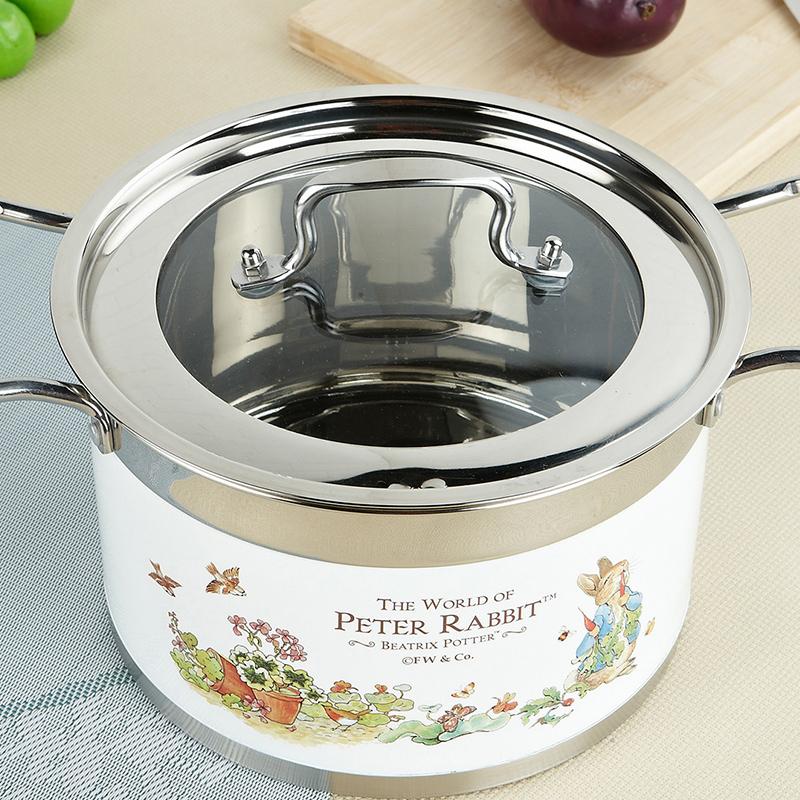 比得兔不锈钢多用汤锅不锈钢复底加厚大汤锅炖锅适用各种灶具