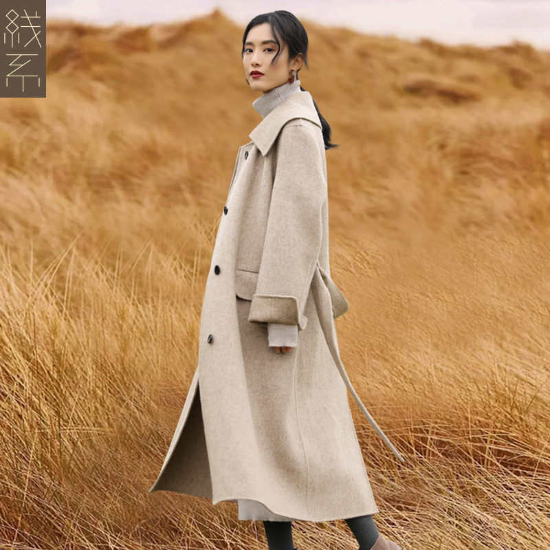 双面呢子大衣女中长款2018新款冬季韩版双面呢毛呢外套无羊绒大衣