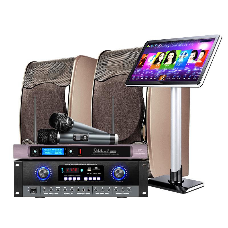 威钻 9850家用KTV点歌机触摸屏一体机卡拉ok音箱家庭影院音响套装