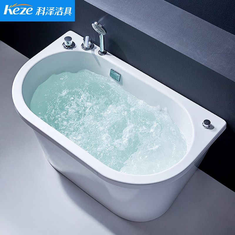 Royal Acrylic Bathtub Small apartment Sitting Household Adult ...