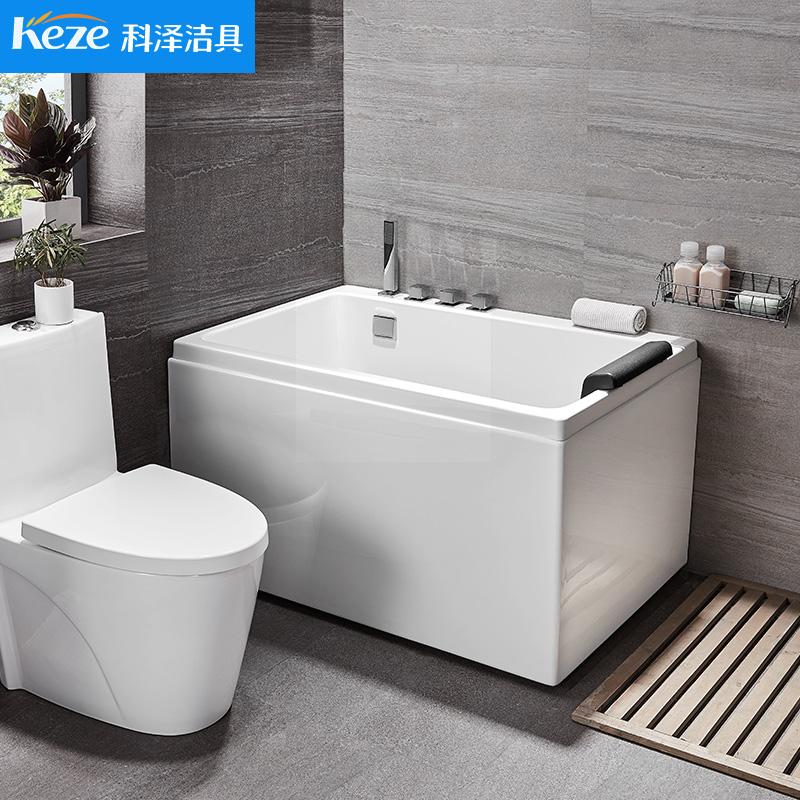 科泽浴缸亚克力独立式ag娱乐场平台成人浴池日式浴盆迷你小户型0.9m-1.3米