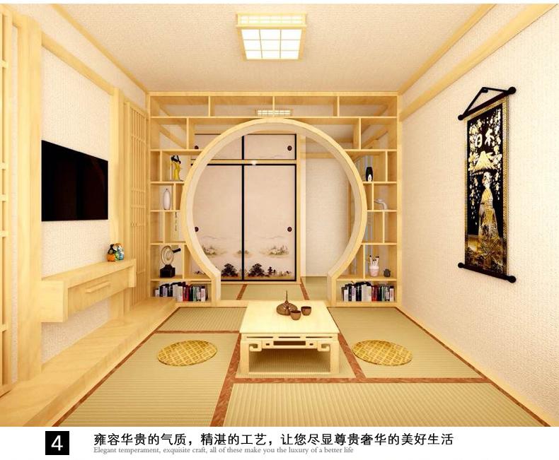 柏优日式榻榻米地台定制 实木定做阳台卧室设计 和室储物柜桌子
