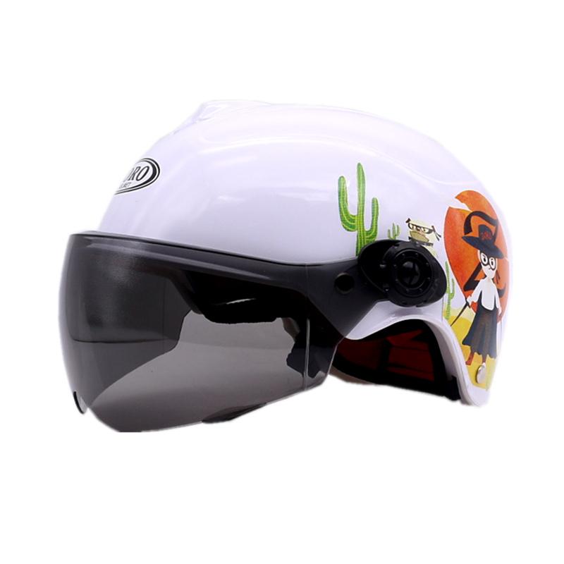 佐罗电动车摩托车儿童头盔男孩女宝宝夏季全半覆式小孩安全帽四季
