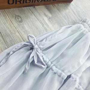 6418#【现货实拍】蓬松质感雪纺半身裙