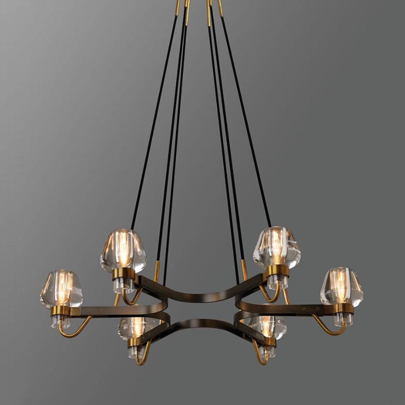 全铜后现代吊灯简美北欧设计师纯铜吊灯餐厅书房卧室别墅样版房灯