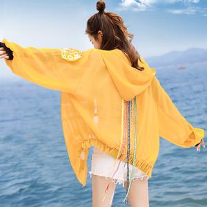防晒衣女仙女短款百搭2019夏季新款韩版学生休闲沙滩防晒开衫外套