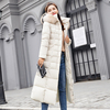 Real Shot 2018 New Fashion Slim Large Size Long Section With Colored Fur Collar Down Jacket Cotton Jacket
