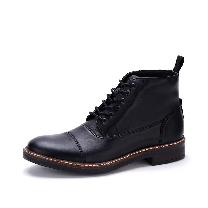 clarks其乐潮鞋复古男士短靴系带工装鞋短靴男秋Blackford Cap
