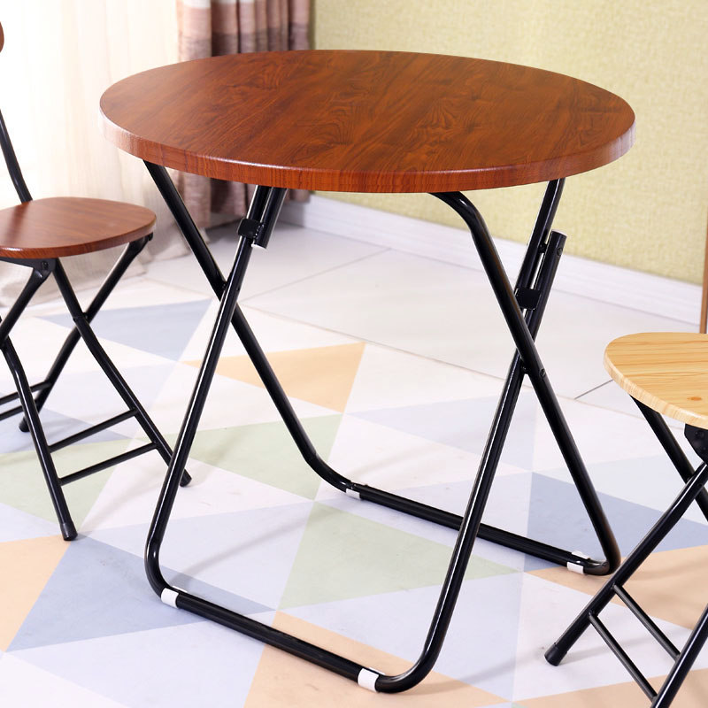 Folding table dining table home small apartment eating round table square table table simple portable mahjong table square
