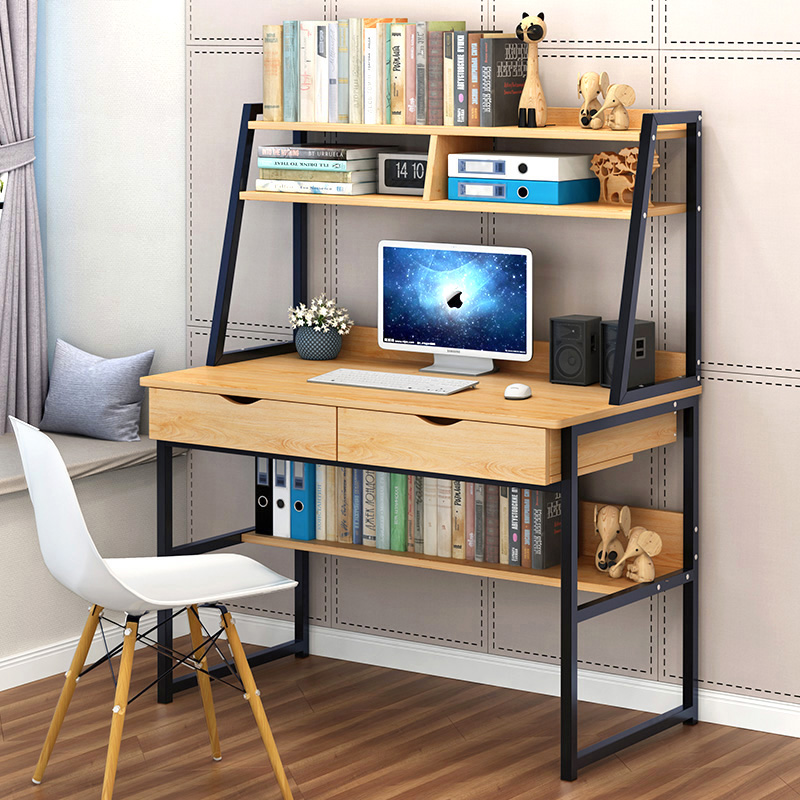 Computer desk desktop table simple modern home desk simple bookshelf desk combination writing desk desk
