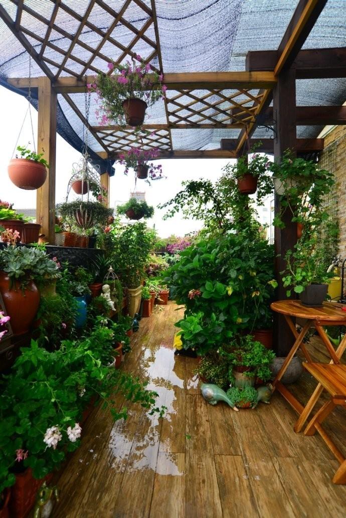 露台花园家装修设计楼顶阳光房庭院别墅院子景观效果图纸阳台屋顶图片