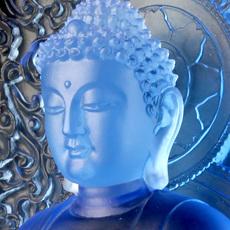 佛像摆件琉璃佛像背光药师佛寺庙佛堂家居供奉摆件车摆