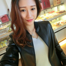 Leather jacket Leixibeini bn15d8031 PU