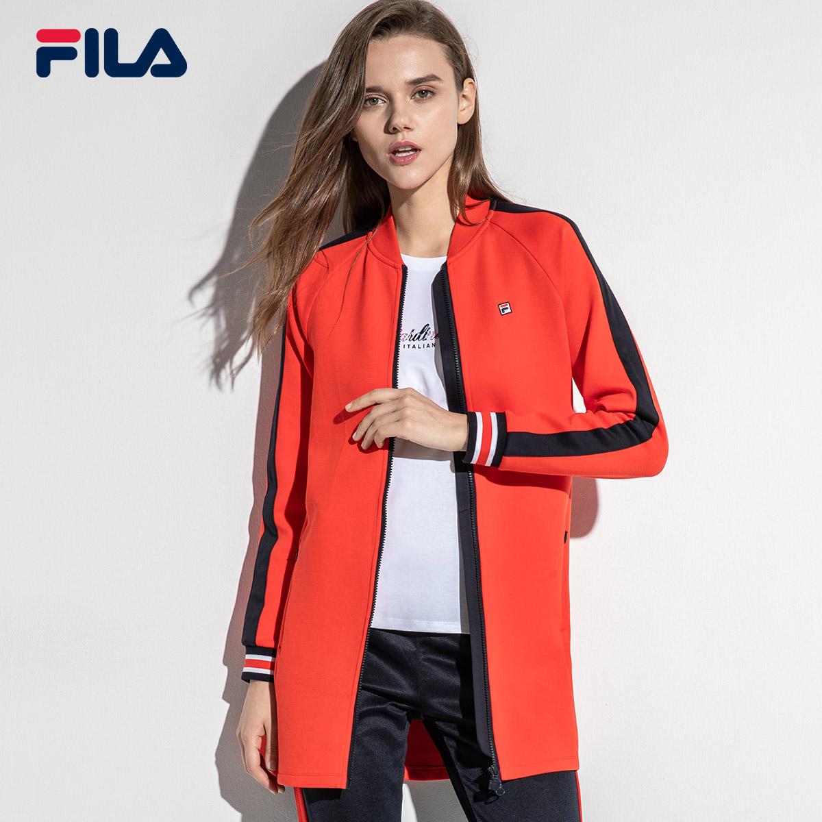 FILA斐乐女外套2018年秋季新款时尚运动休闲外套针织舒适上衣女