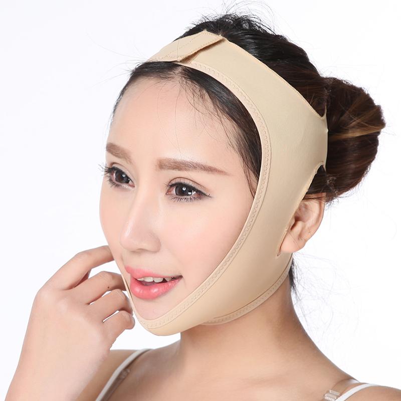 瘦脸神器瘦双下巴绷带小V脸面膜睡眠法令纹提拉紧致线雕塑形面罩