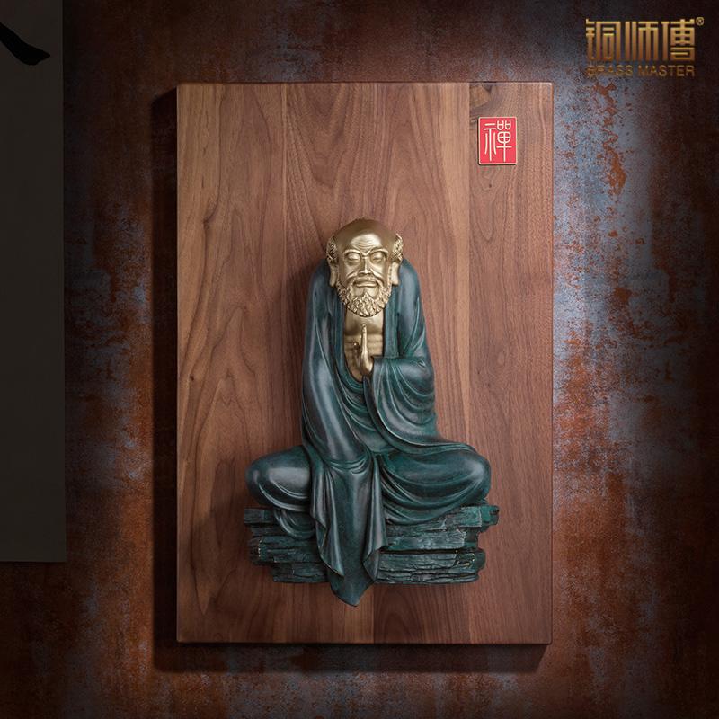 铜师傅 全铜摆件《达摩之禅意》家居饰品 铜工艺品