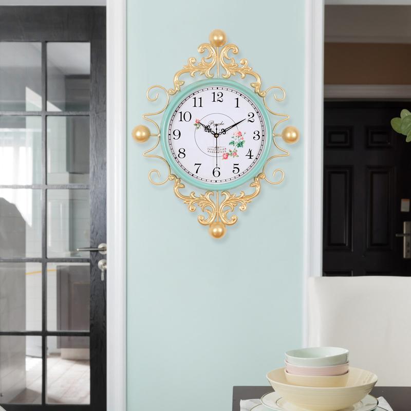 美式客厅钟表时钟挂钟客厅创意现代简约家用卧室艺术新款欧式复古