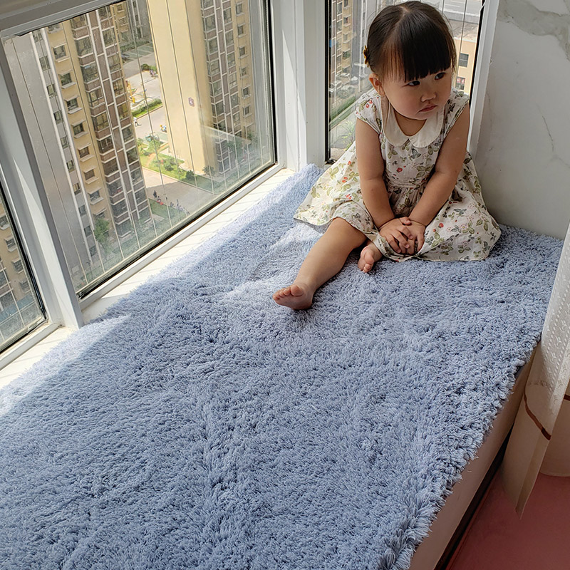 网红毛绒飘窗垫阳台垫子四季通用卧室床边窗台垫榻榻米小地毯定做