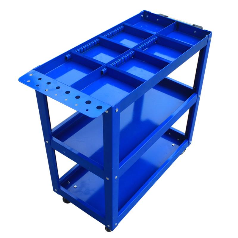 一鸣 工具车三层 零件车汽修周转手推车搬运装配五金工具置物架
