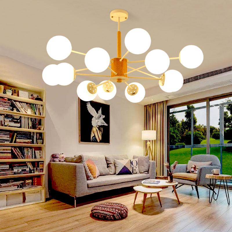 北欧客厅灯简约后现代魔豆吊灯创意个性家用大气餐厅卧室分子灯具