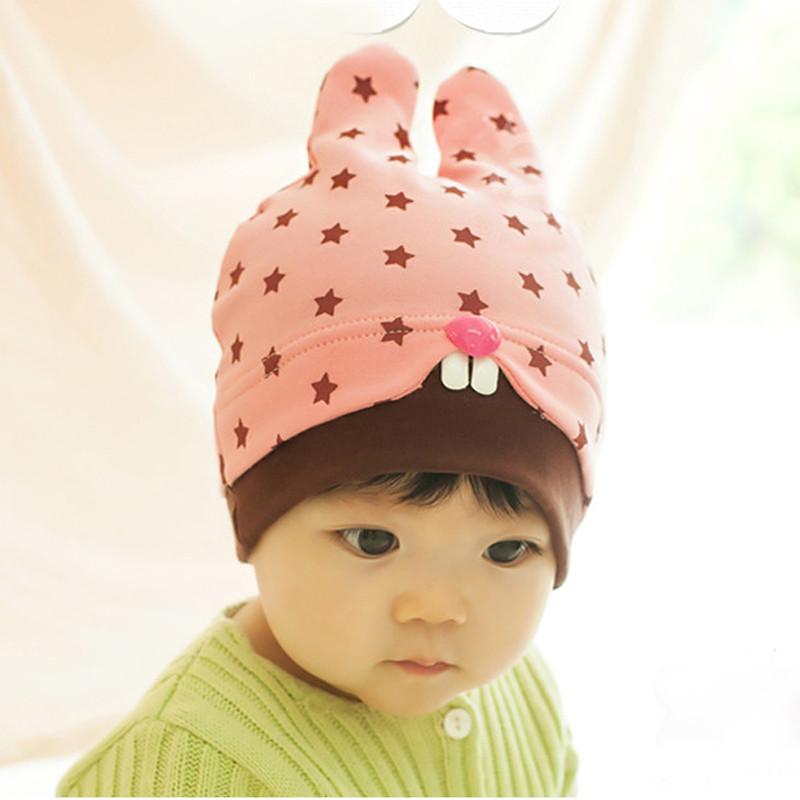 婴儿帽子秋款6-12个月男女童新生儿韩国儿童宝宝套头帽纯棉潮包邮产品展示图2