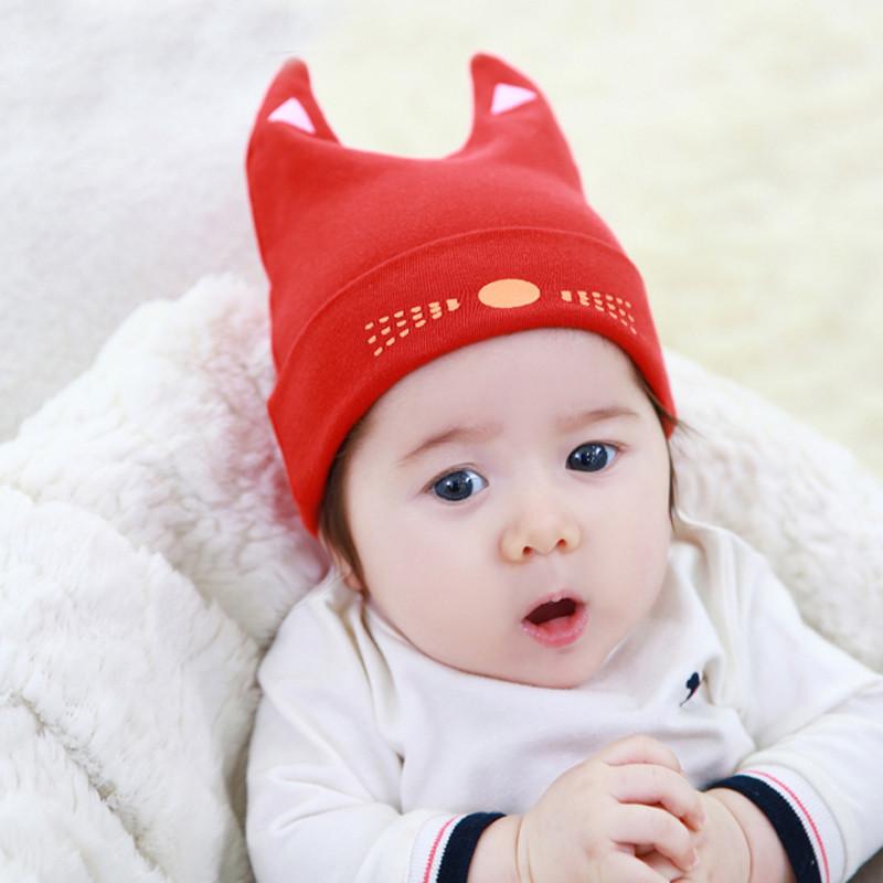 新生儿婴儿帽子春款0-3-6个月男女童纯棉套头帽宝宝护耳帽子秋产品展示图1