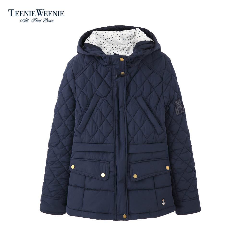 Teenie Weenie小熊2018春装新款女装连帽短款外套TTJP85101I