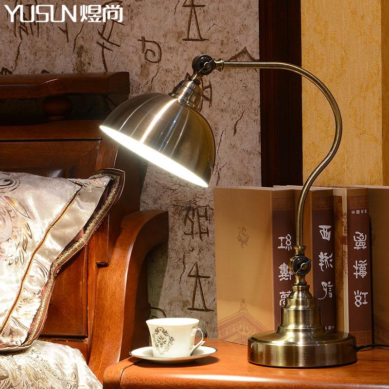 煜尚美式可调节仿古铜台灯YSTD-5501