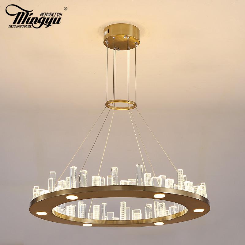 轻奢客厅吊灯创意个性复式楼梯灯设计师大厅灯后现代奢华水晶吊灯