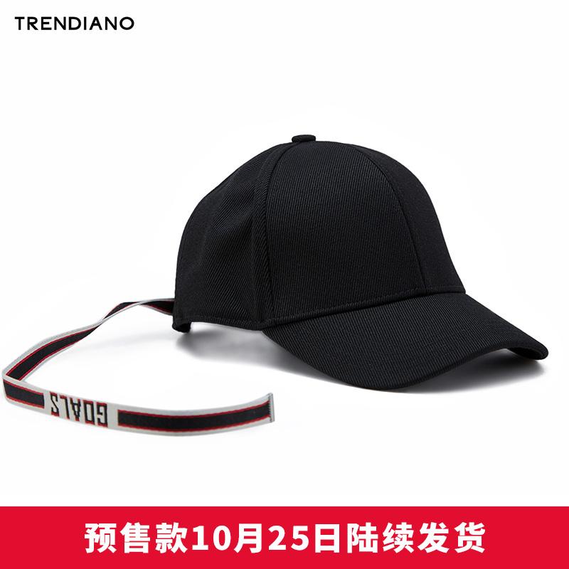 TRENDIANO华晨宇同款遮阳条纹飘带棒球帽男3GA3558040