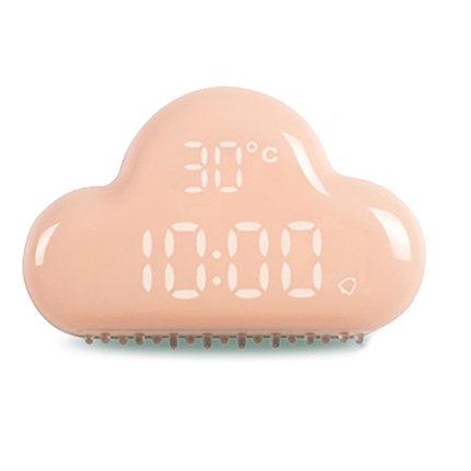 个性云朵闹钟二代学生简约创意多功能床头卧室智能声控静音充电式
