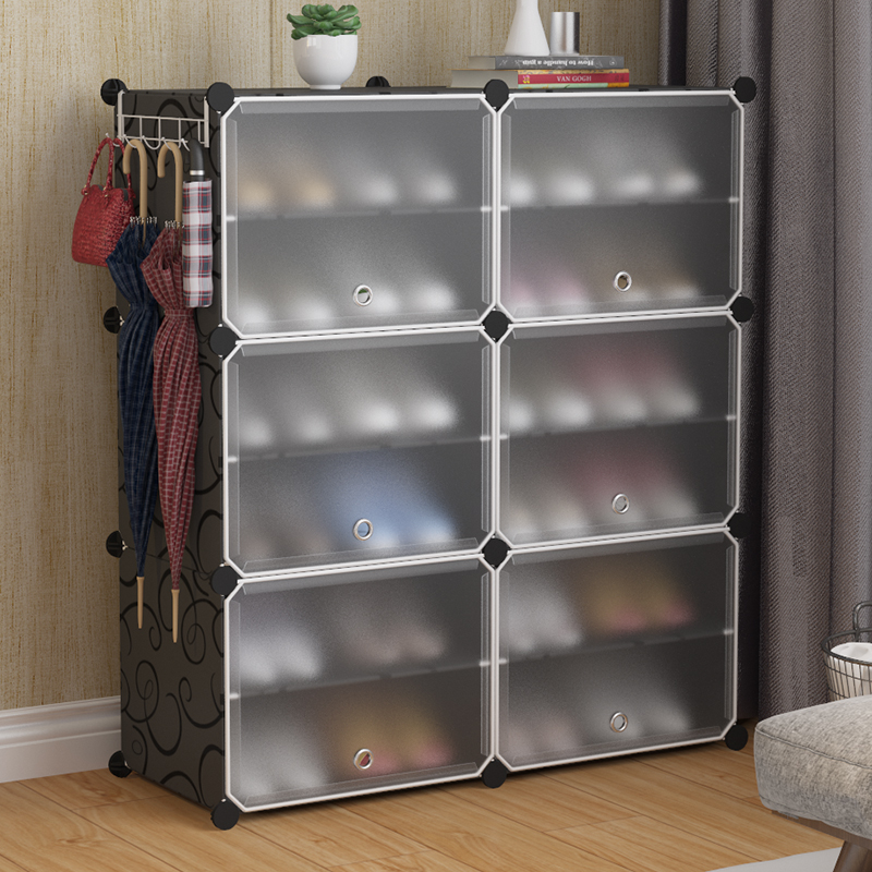 Simple dust-proof shoe rack storage assembly household economical space-saving dormitory shoes simple modern hall cabinet