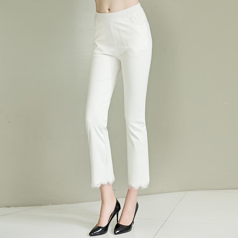 梅汀大码女装夏季大腿粗的女生裤子胖mm宽松显瘦喇叭裤九分200斤