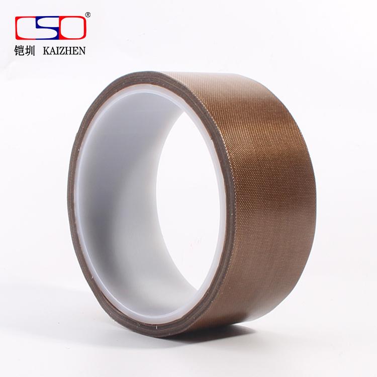 特氟龙胶带 茶叶封口机隔热 咖啡色铁氟龙高温胶带25-38*0.13mm厚